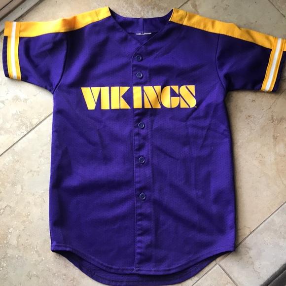 premium selection d3f73 3c1f4 Vikings Minnesota Jersey Shirt boys size M